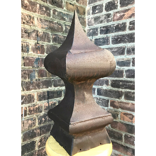 S18075 - Antique Victorian Era Sheet Metal Spire Finial