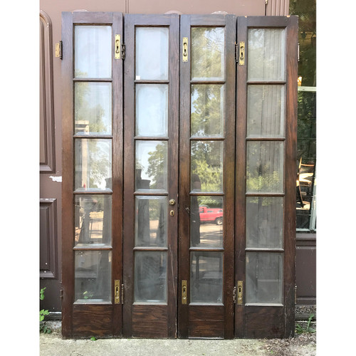 "D18084 - Antique Bifold French Doors 59"" x 83-3/4"""