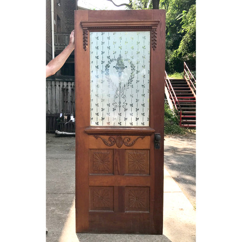"D18105 - Antique Exterior Part Light Door 31-7/8"" x 79-3/4"""