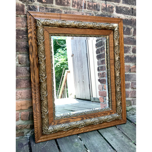 A18125 - Antique Victorian Era Frame with Beveled Mirror