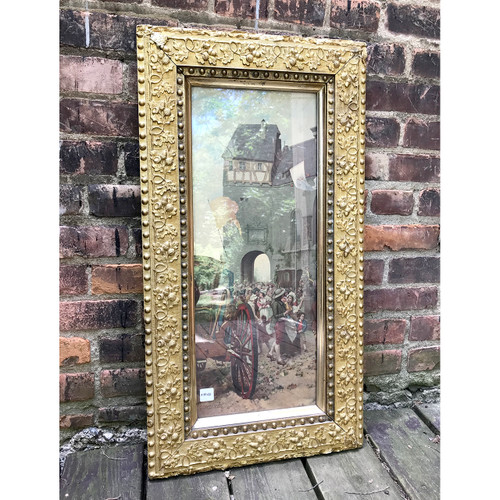 A18126 - Antique Late Victorian Gesso Picture Frame