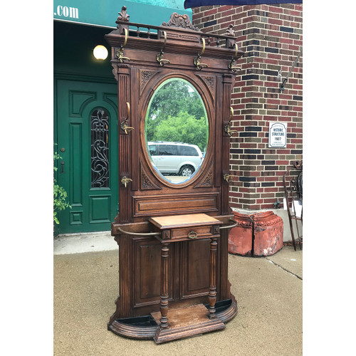 F18085 - Antique Walnut Hall Stand