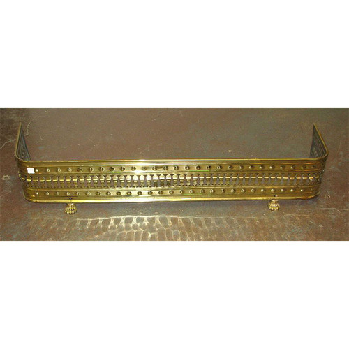 805658 - Antique Colonial Revival Brass Mantel Fender