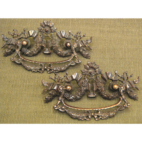 H12053 - Pair of Antique Drawer Pulls