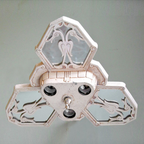 L13122 - Antique Art Deco Flush Mount Ceiling Light Fixture