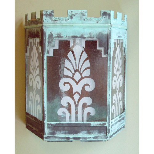 L13125 - Antique Art Deco Exterior Wall Sconce