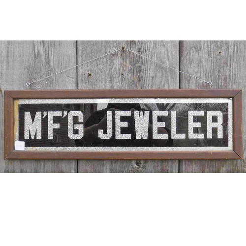 "A14044 - Antique Early Century Trade Sign ""MFG Jeweler"""