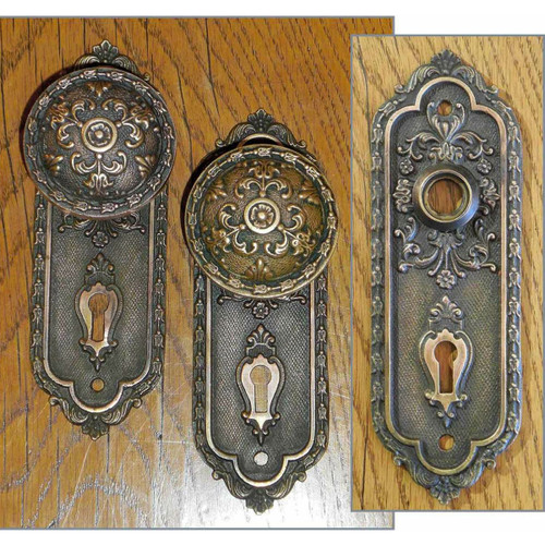 H14010 - Antique Rococo Revival Interior Knobset