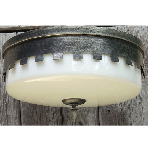 L14218 - Vintage Tudor Revival Flush Mount Light Fixture