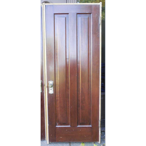 "D14134 - Antique Two Vertical Panel Door in Jamb 30"" x 79-1/2"""