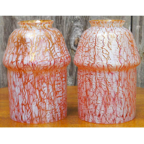 L14246 - Pair of Antique Loetz Art Glass Shades