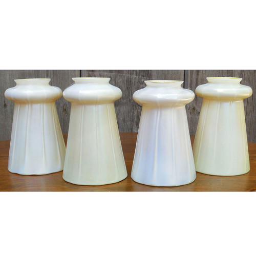 L14256 - Set of Four Antique Steuben Art Glass Shades