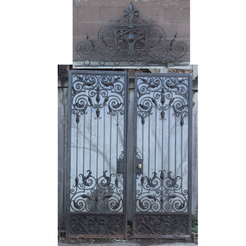 "D15020 - Pair of Antique Wrought Iron Doors 60"" x 84-1/4"""