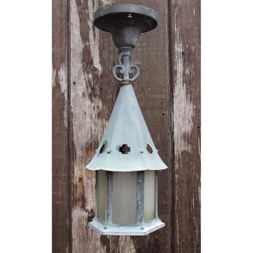L15205 - Antique Tudor Revival Exterior Hanging Fixture