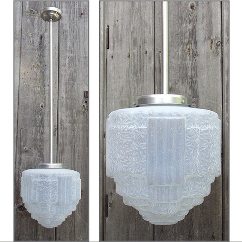 L15138 - Antique Art Deco Hanging Pendant Fixture
