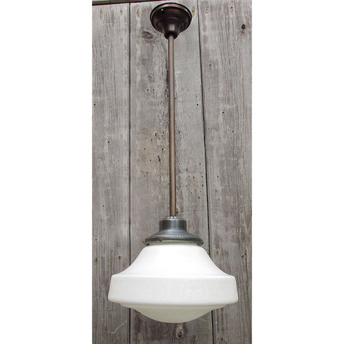 L15151 - Antique Neoclassical Schoolhouse Hanging Fixture