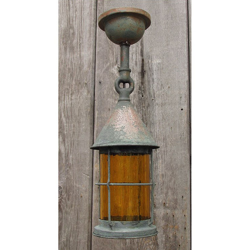 L15158 - Antique Revival Period Exterior Flush Mount Lantern Fixture