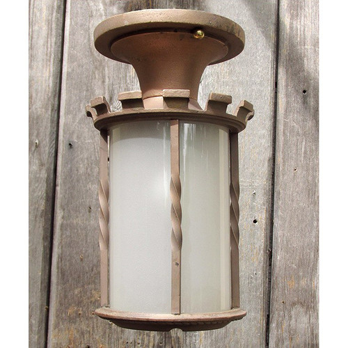L15242 - Antique Tudor Revival Cast Bronze Flush Mount Fixture