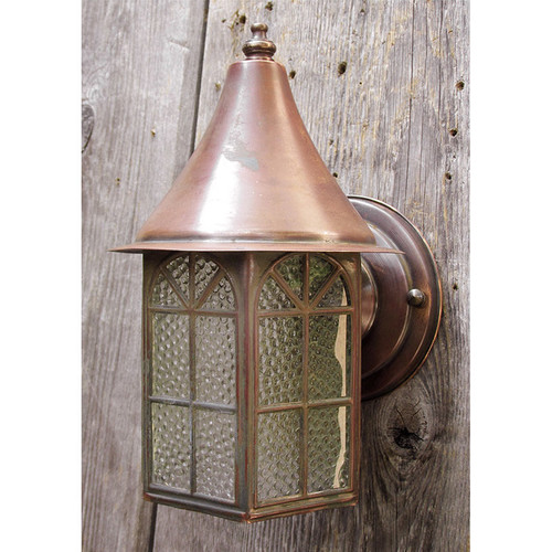 L15248 - Antique Copper Colonial Revival Style Exterior Sconce