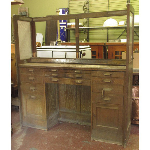 F15093 - Antique Oak Jewelers Workbench