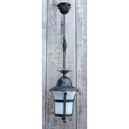 L15308 - Antique Late Victorian Hanging Lantern Porch Fixture