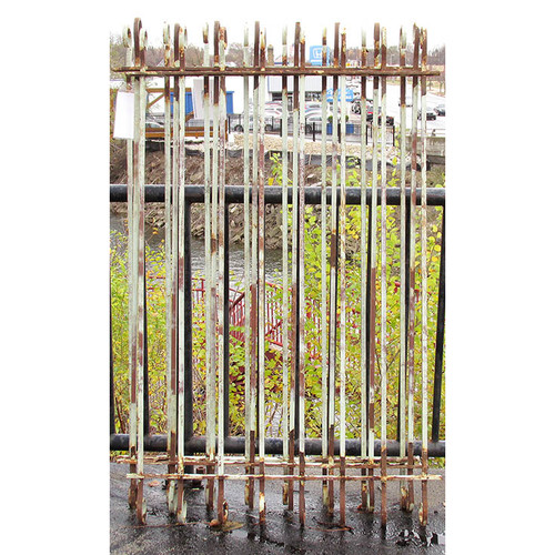 S15032- Antique Wrought Iron Window Grill