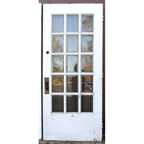 "D15237 - Antique Revival Period Interior French Door 36""x 83"""