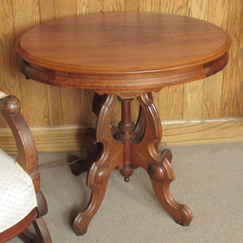 F16013 - Antique Renaissance Revival Walnut Parlor Table