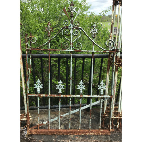 "S16012 - Antique Victorian Wrought and Cast Iron Garden Gate 48"" x 72"""