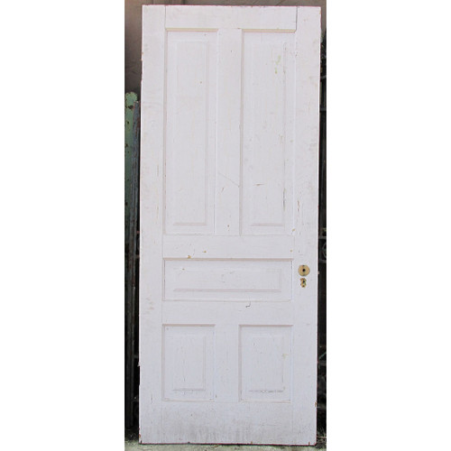 "D16047 - Antique Victorian Interior Traditional Five Panel Door 32"" x 78-1/4"""
