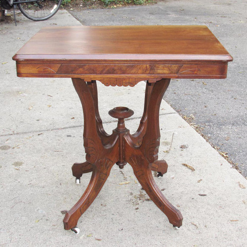 F16119 - Antique Renaissance Revival Walnut Parlor Table