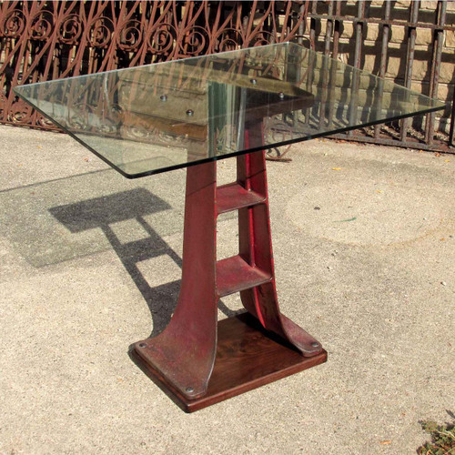 F16142 - Antique Industrial Style Side Table
