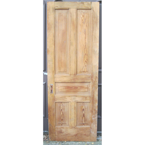"D16121 - Antique Pine Five Traditional Panel Interior Door 30"" x 82-1/2"""