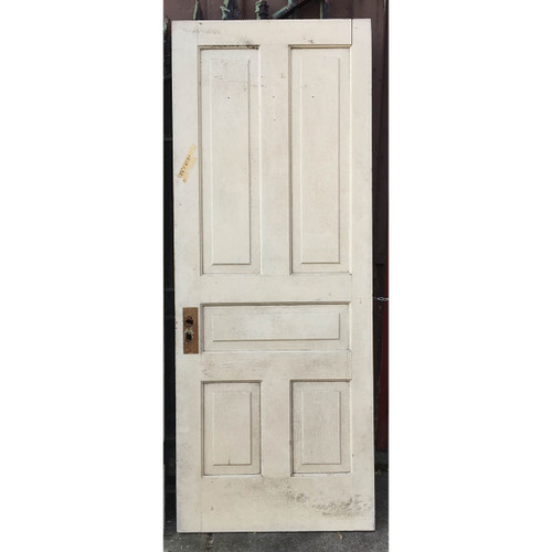 "D16139 - Antique Pine Five Traditional Panel Interior Door 30-1/2"" x 77-1/4"""