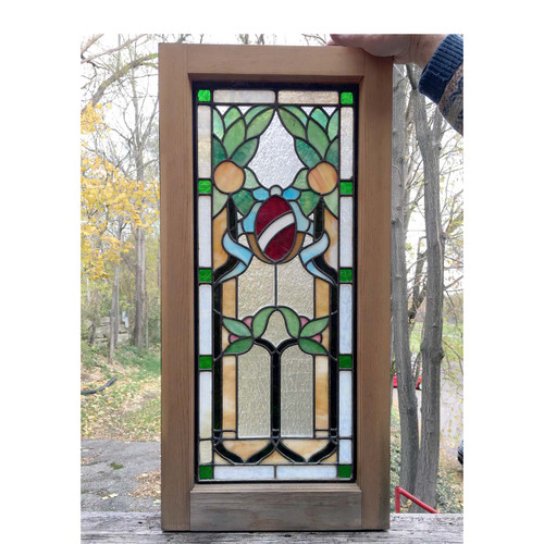 G16065 - Antique Revival Period Stained Glass Window