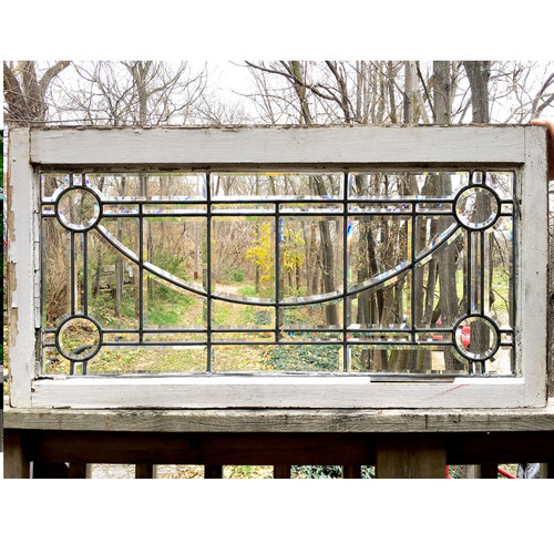 G16070 - Antique Colonial Revival Style Beveled Glass Window