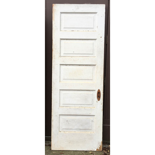 "D16169 - Antique Five Horizontal Panel Interior Door 29-3/4"" x 84"""