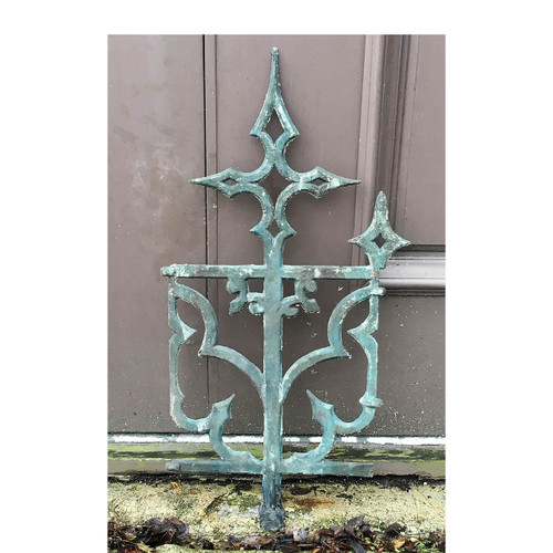 S17001 - Antique Cast Iron Italianate Widow's Walk Fragment