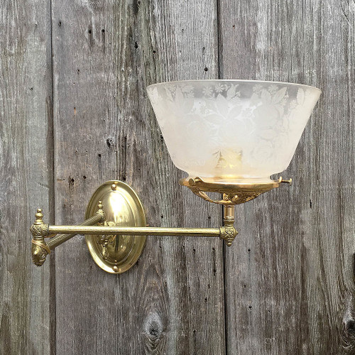 L17020 - Antique Gas Double Swing Arm Sconce