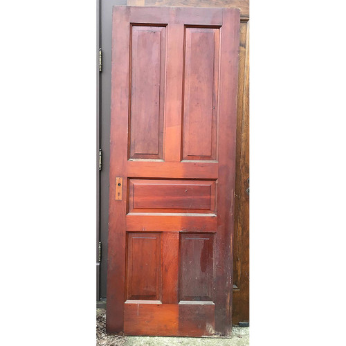 D16007 - Antique Victorian Era Pine Board and Batten Barn Door