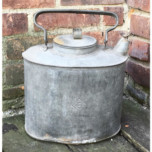 A17014 - Antique Galvanized Steel Oil Can