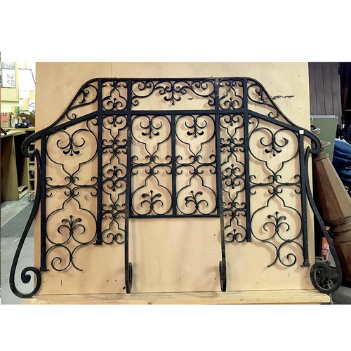S17028 - Antique Revival Period Wrought Iron Balcony Rail Panel
