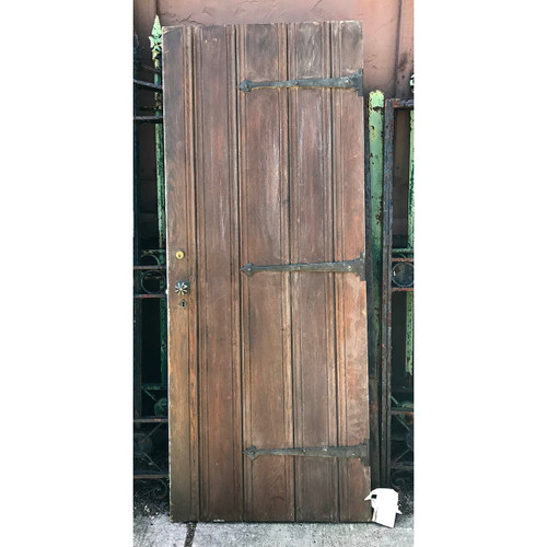 "D17062 - Antique Tudor Revival Oak Door 29-1/4"" x 72"""