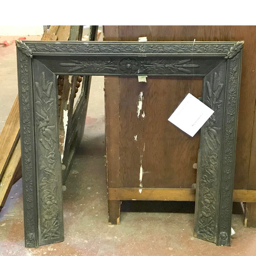 M17012 - Antique Victorian Embossed Brass Firebox Surround