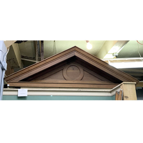 S17036 - Antique Oak Colonial Revival Pediment