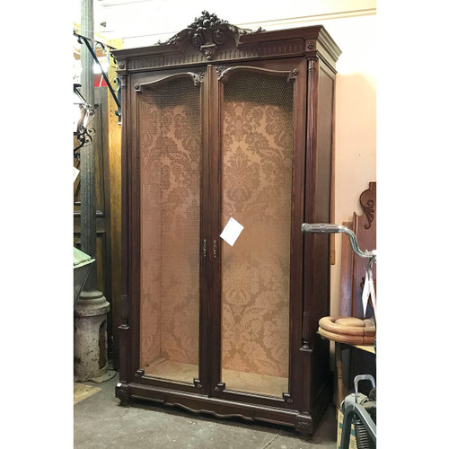 F17062 - Antique French Beaux Arts Walnut Amoire