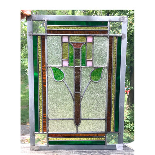 G17054 - Antique and Custom Arts & Crafts Stained Glass Window