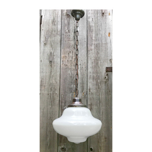 L17153 - Antique Revival Period Schoolhouse Hanging Fixture