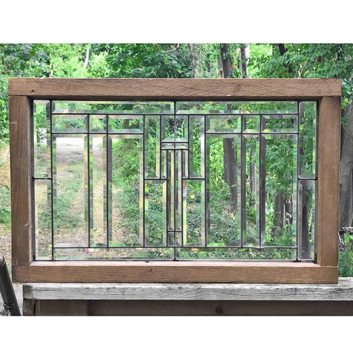 G17055 - Antique Prairie Style Full Beveled Window