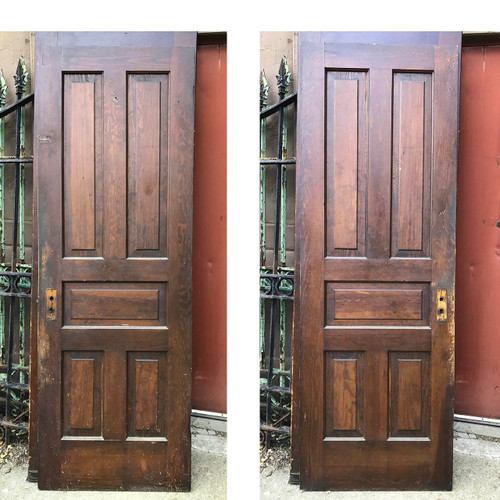 "D17109 - Single Antique Paneled Door 28"" x 80 1/4"""